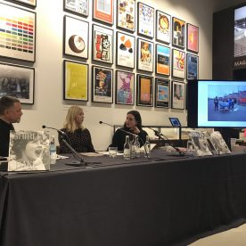 Shirley Baker photograph of talk at the Tate with Lou Stoppard book launch