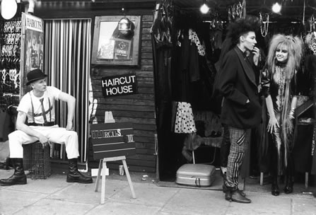 Shirley Baker photograph of punks in camden