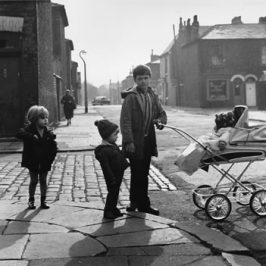 Shirley Baker photograph of kids with a pram